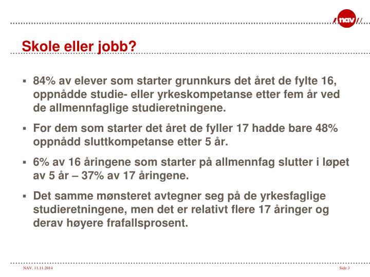 Skole eller jobb?