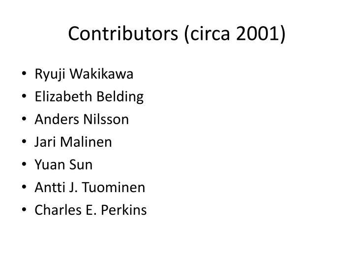 Contributors (circa 2001)