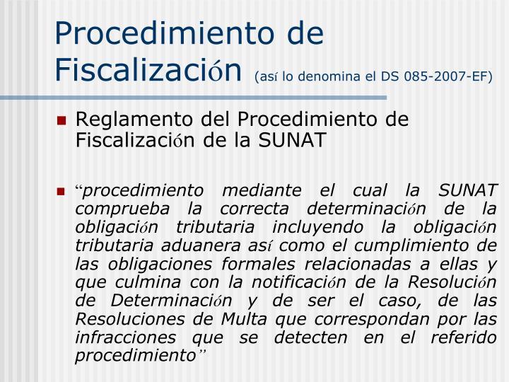 Procedimiento de Fiscalizaci