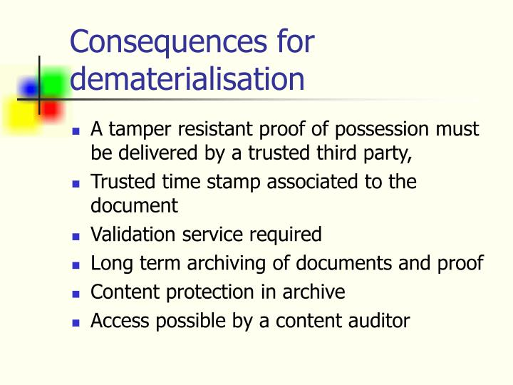 Consequences for dematerialisation