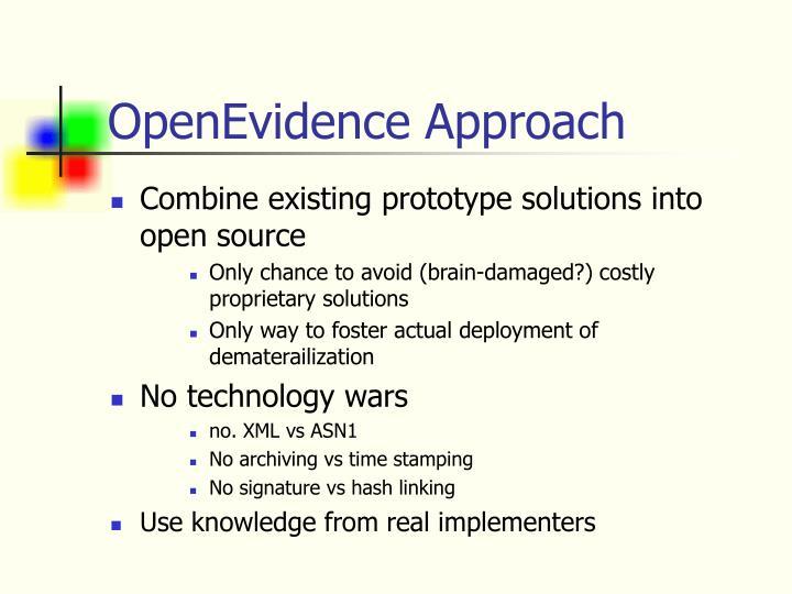 OpenEvidence Approach