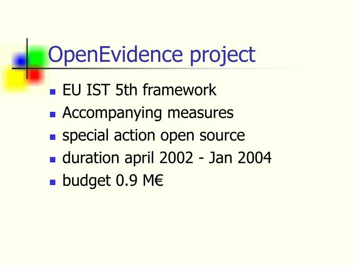 OpenEvidence project