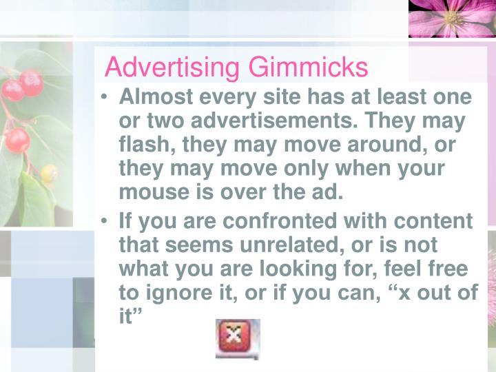 Advertising Gimmicks