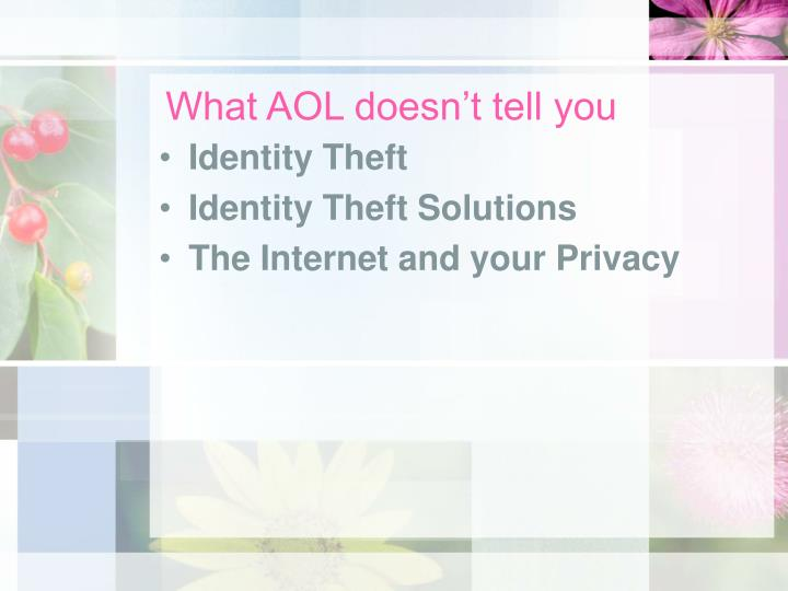 What AOL doesn't tell you