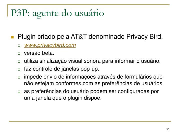 P3P: agente do usuário