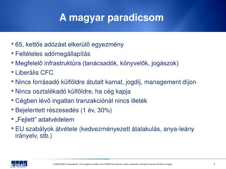 A magyar paradicsom