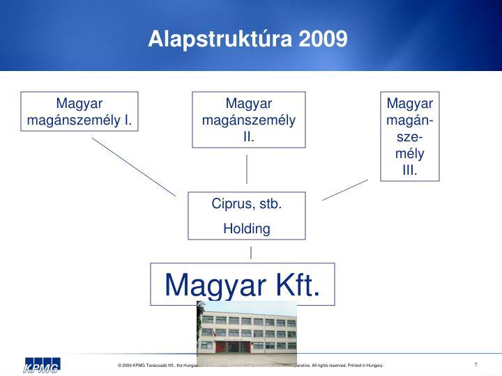 Alapstruktúra 2009