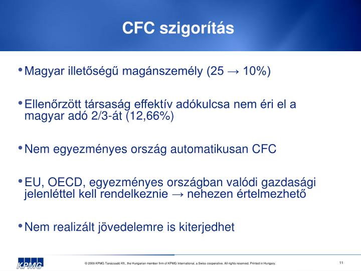 CFC szigorítás