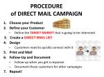 procedure of direct mail campaign