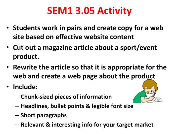 SEM1 3.05 Activity