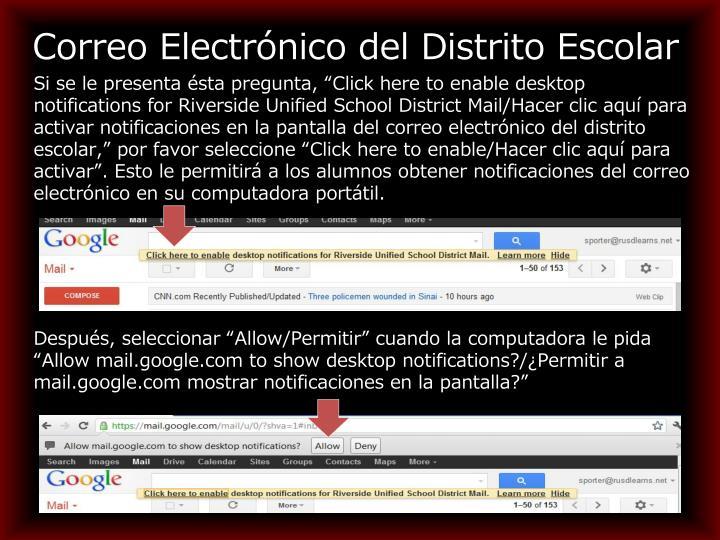 Correo Electrónico del Distrito Escolar