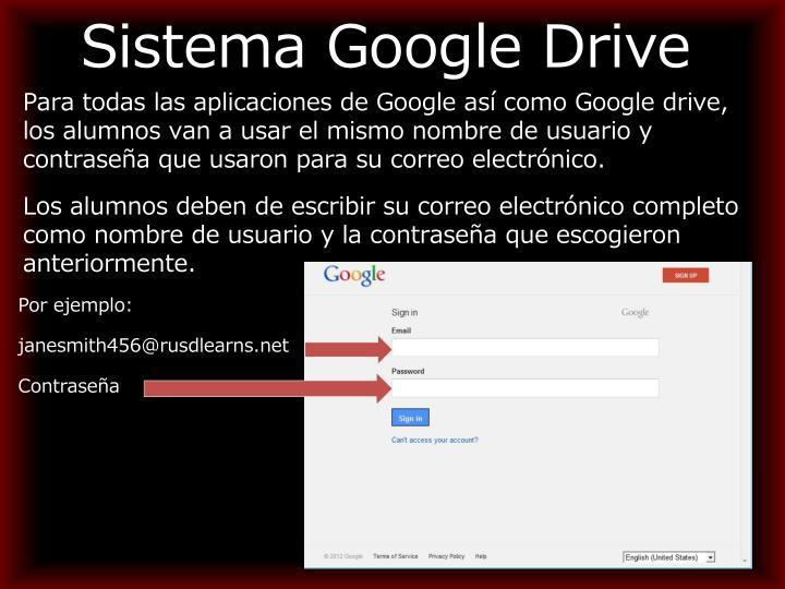 Sistema Google Drive