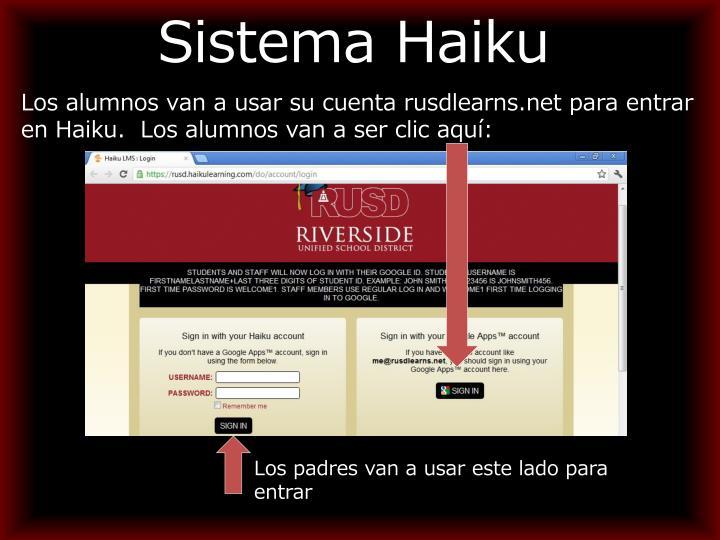 Sistema Haiku