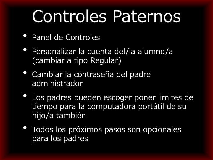 Controles Paternos