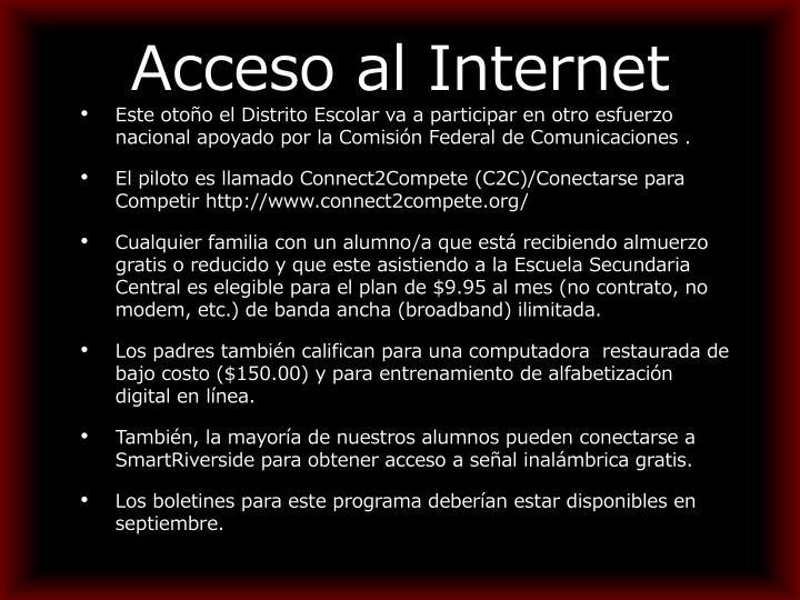 Acceso al Internet