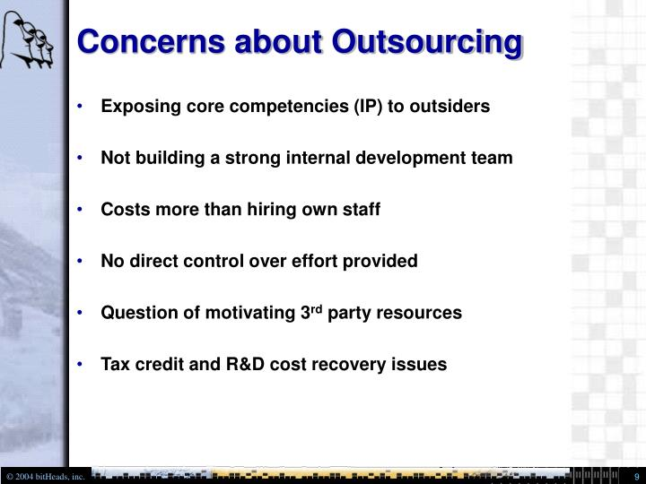 Concerns about Outsourcing