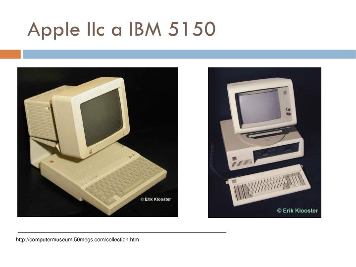 Apple IIc a IBM 5150