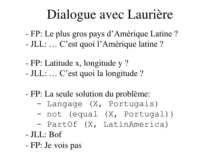 Dialogue avec lauri re