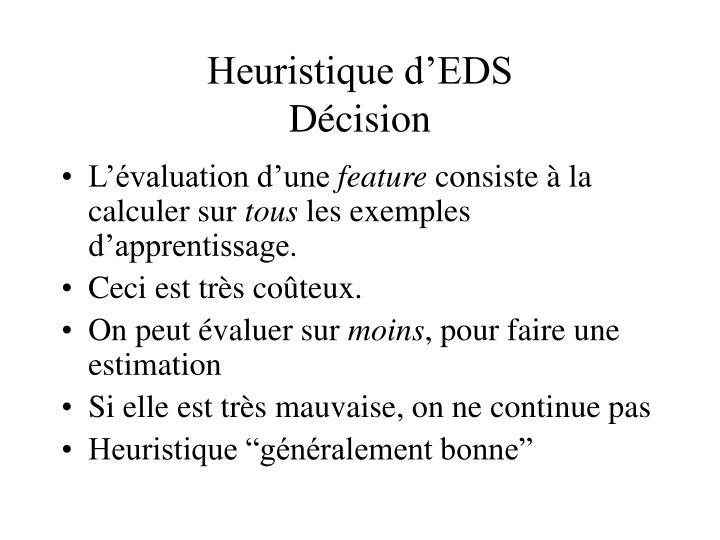 Heuristique d'EDS
