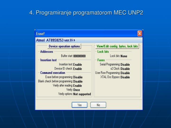 4. Programiranje programatorom