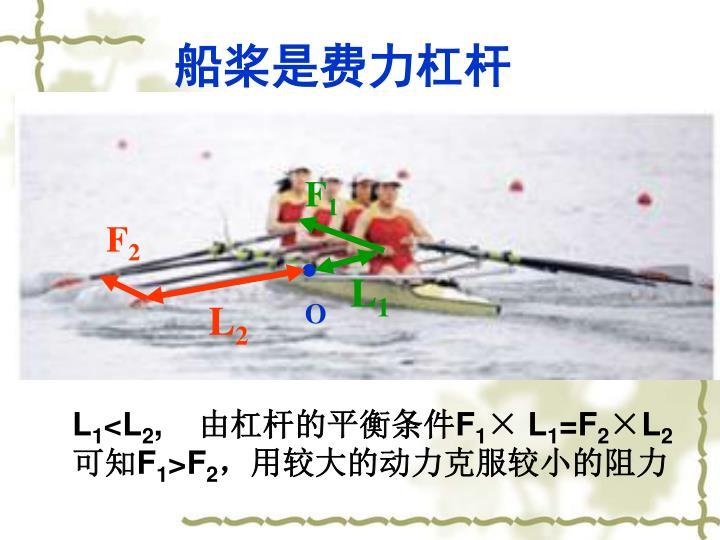 船桨是费力杠杆