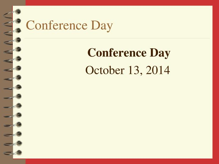 Conference Day