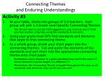 connecting themes and enduring understandings