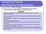 connecting themes and enduring understandings1