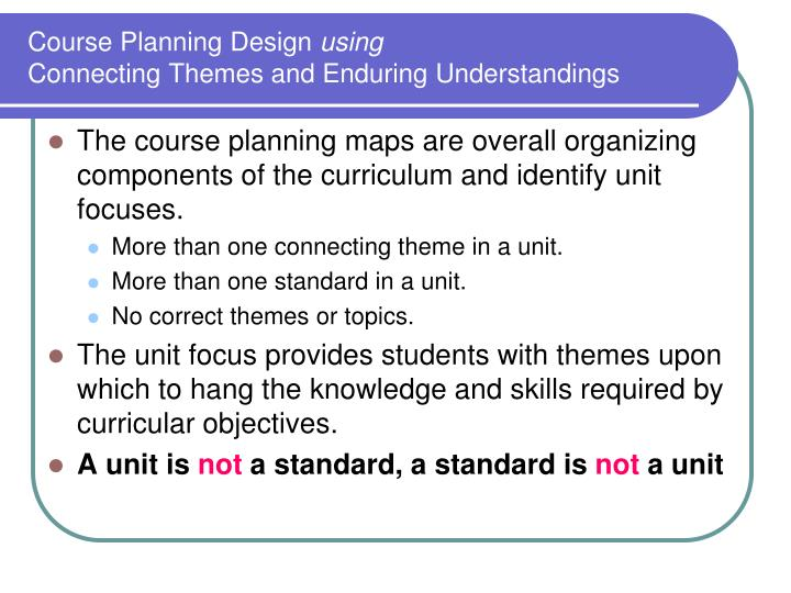 Course Planning Design