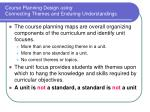 course planning design using connecting themes and enduring understandings