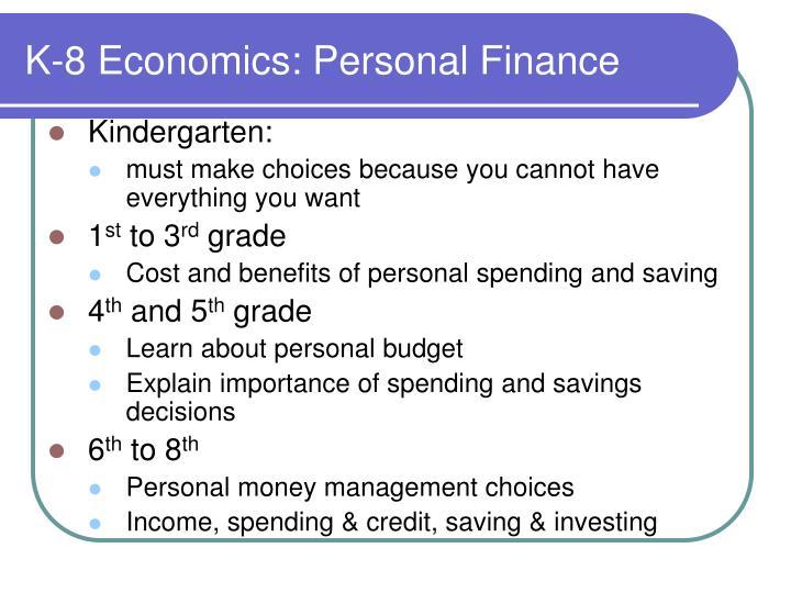 K-8 Economics: Personal Finance