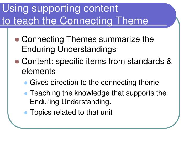 Using supporting content