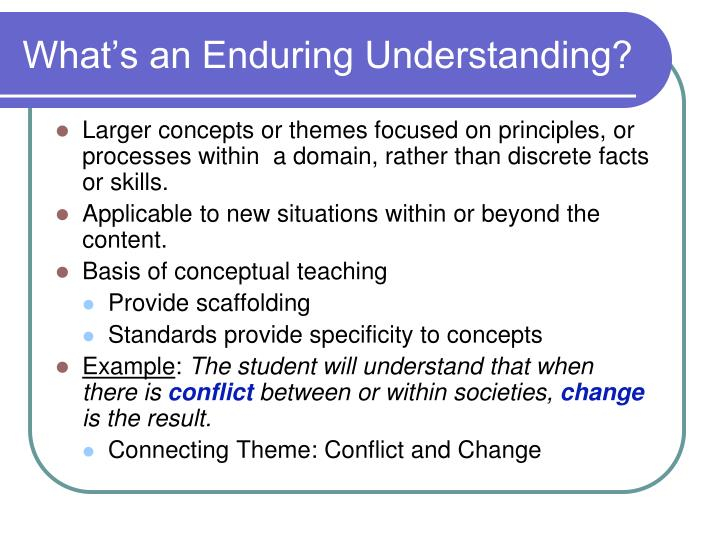 What's an Enduring Understanding?