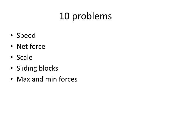 10 problems