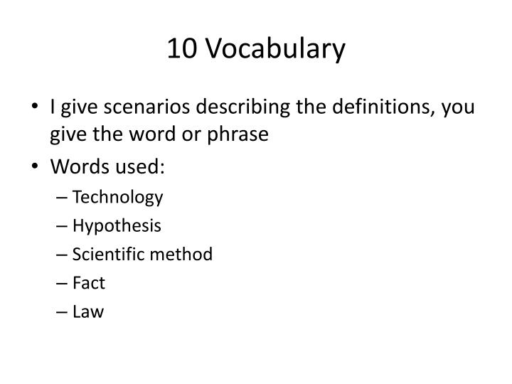 10 vocabulary