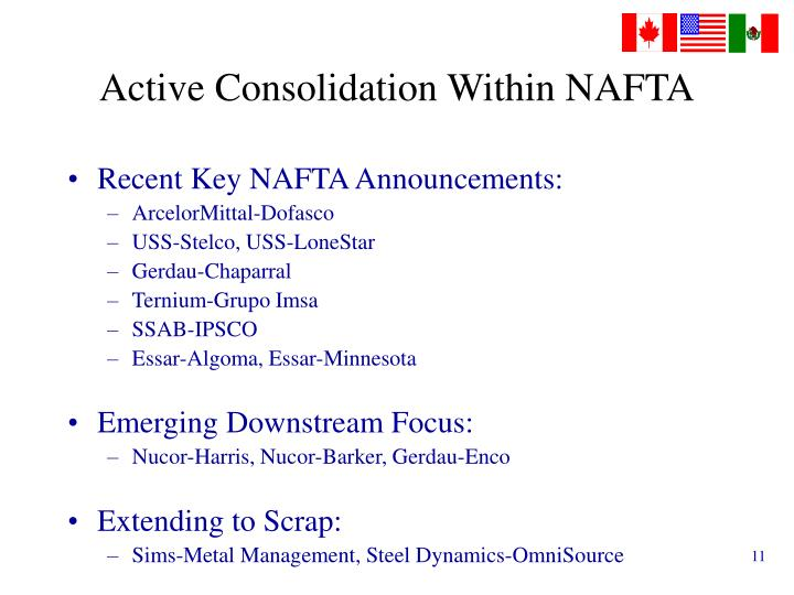 Active Consolidation Within NAFTA