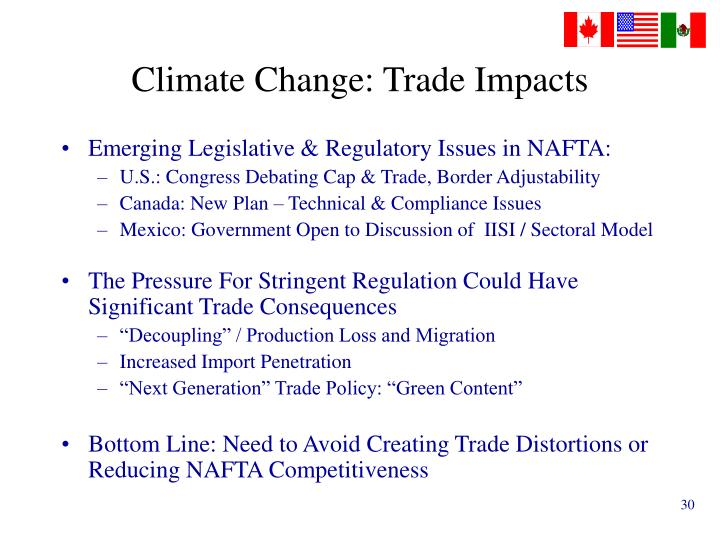 Climate Change: Trade Impacts