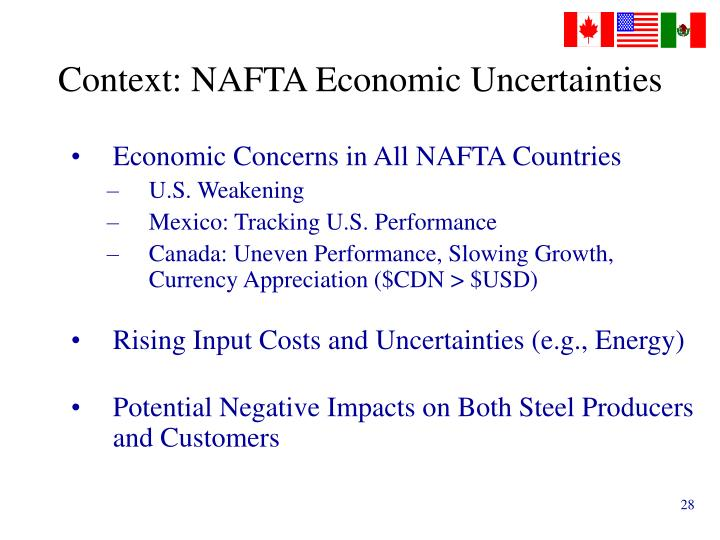 Context: NAFTA Economic Uncertainties