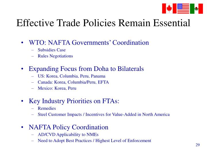 Effective Trade Policies Remain Essential