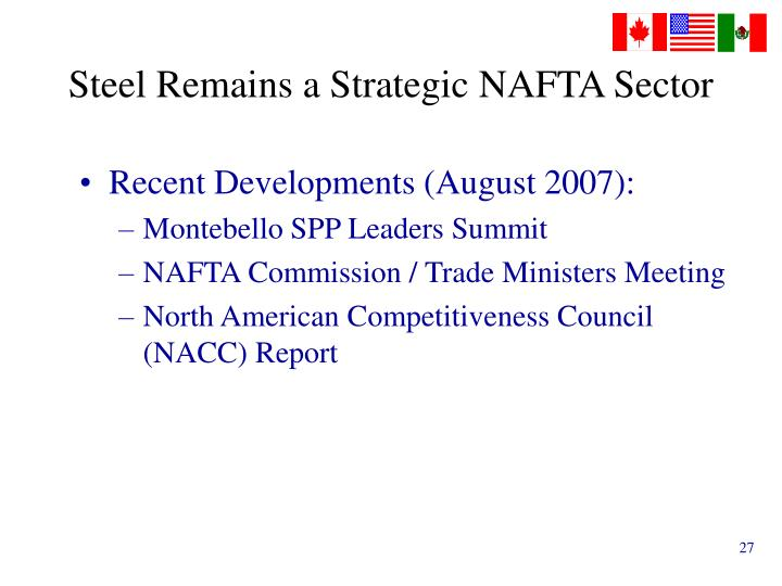 Steel Remains a Strategic NAFTA Sector
