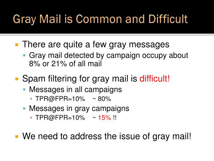 Gray Mail is Common and Difficult