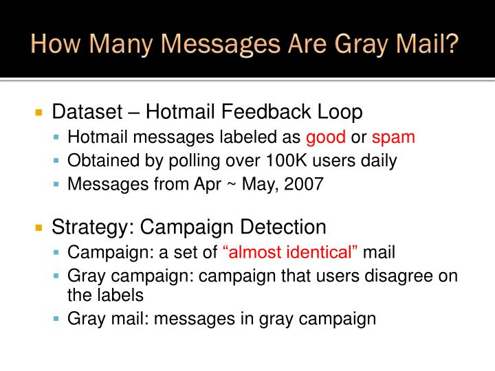 How Many Messages Are Gray Mail?