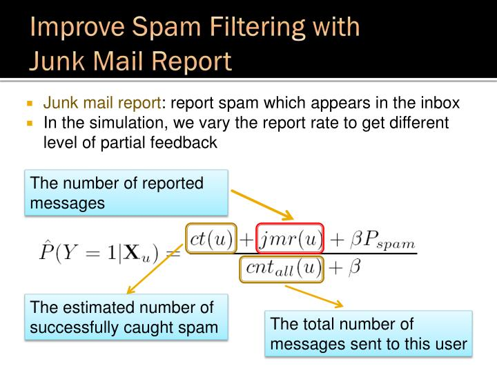 Improve Spam Filtering with