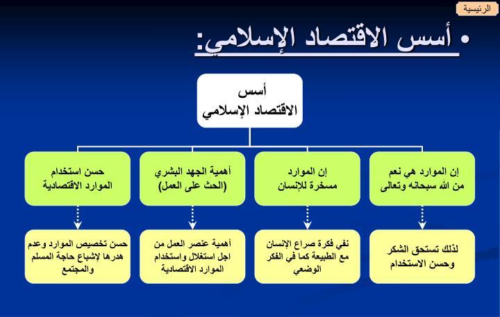 أسس الاقتصاد الإسلامي: