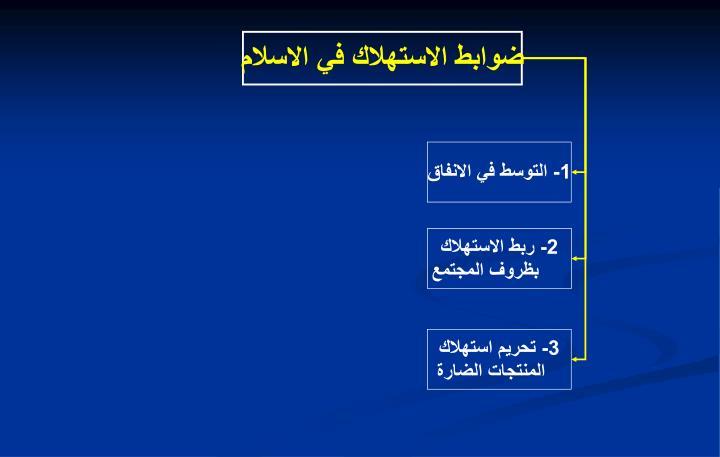 ضوابط الاستهلاك في الاسلام