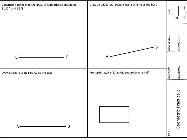 Draw an equilateral triangle using Line AB as the base