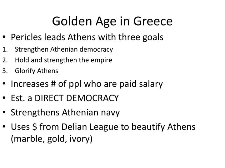 Golden Age in Greece
