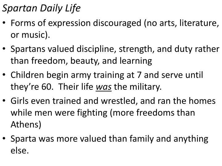 Spartan Daily Life