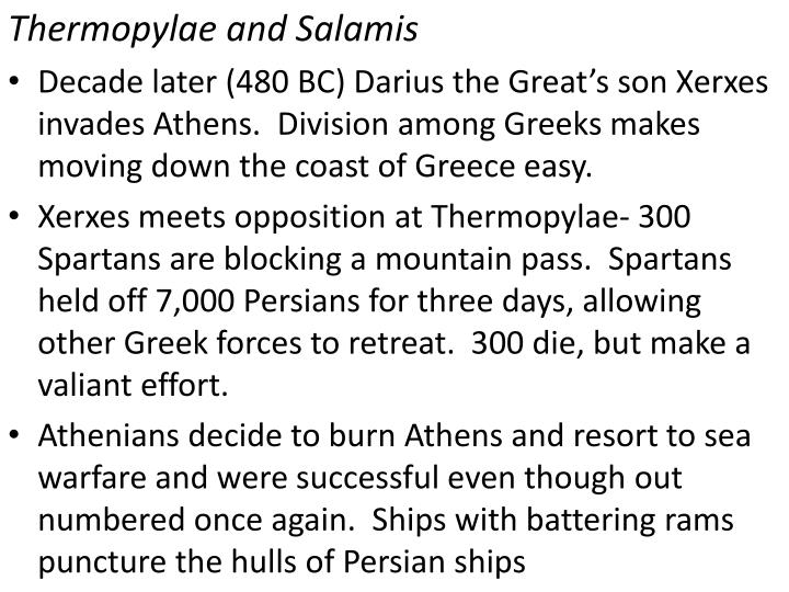 Thermopylae and Salamis