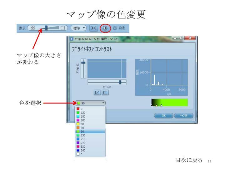 マップ像の色変更